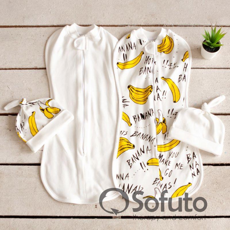 Комплект пеленок Swaddler bananas