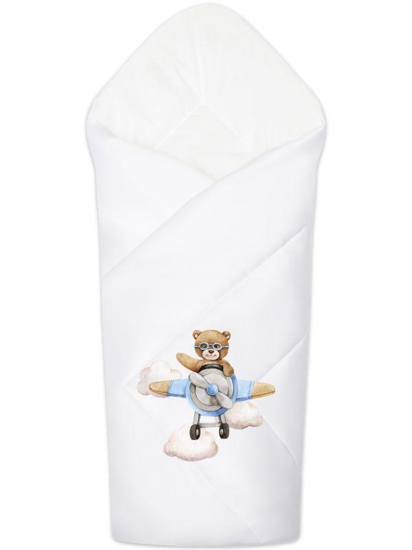 """Летний конверт-одеяло на выписку """"Мишка пилот"""""""