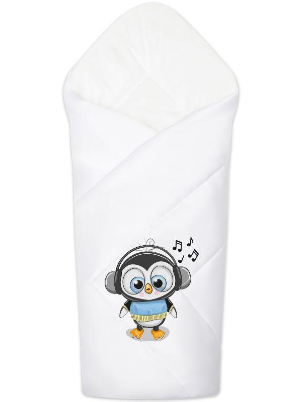 """Летний конверт-одеяло на выписку """"Пингвинёнок"""""""