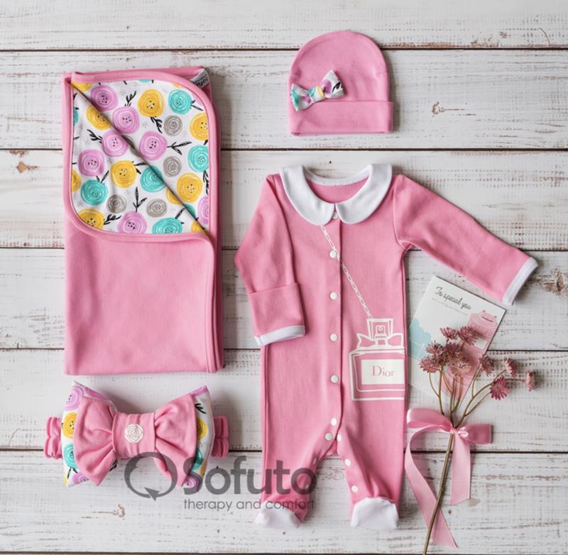Комплект на выписку летний  baby Rosa Dior