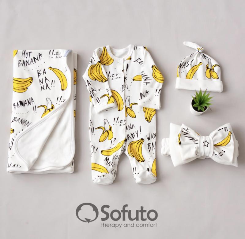Комплект на выписку летний  baby Bananas
