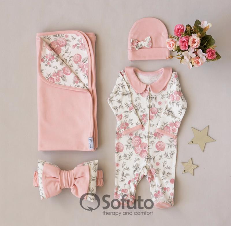Комплект на выписку летний baby Vintage poudre