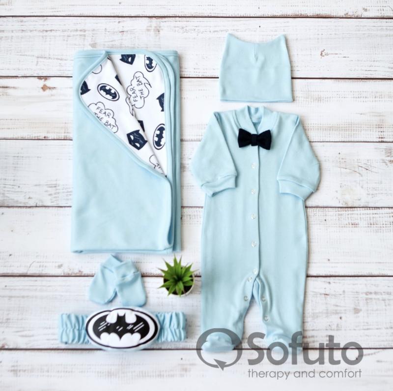 Комплект на выписку летний  baby Batman