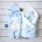 Комплект на выписку демисезонный baby Blue simple