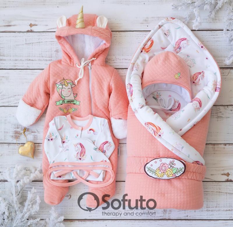 Комплект на выписку холодная зима baby Sweet Unicorn