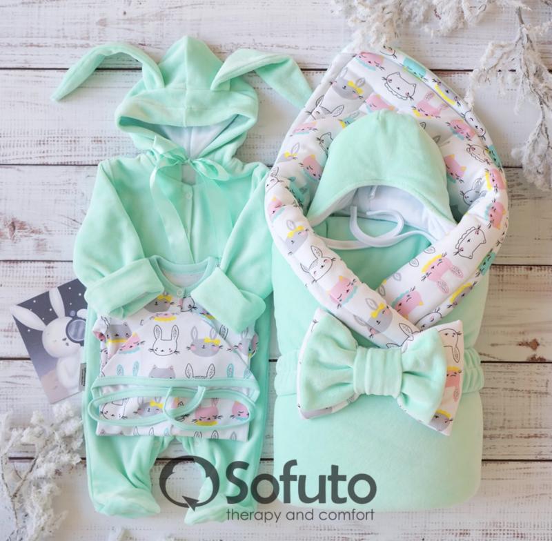 Комплект на выписку зимний baby Bunny mint